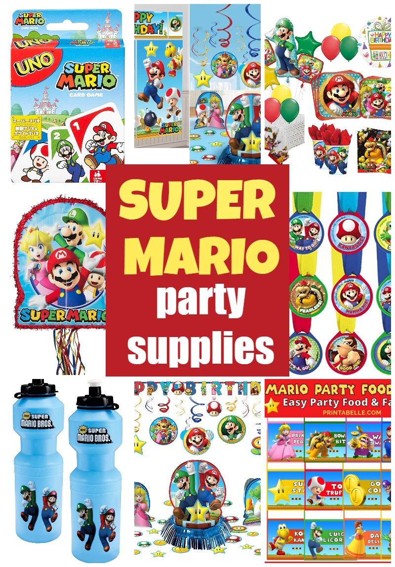 Super Mario Birthday Party Supplies