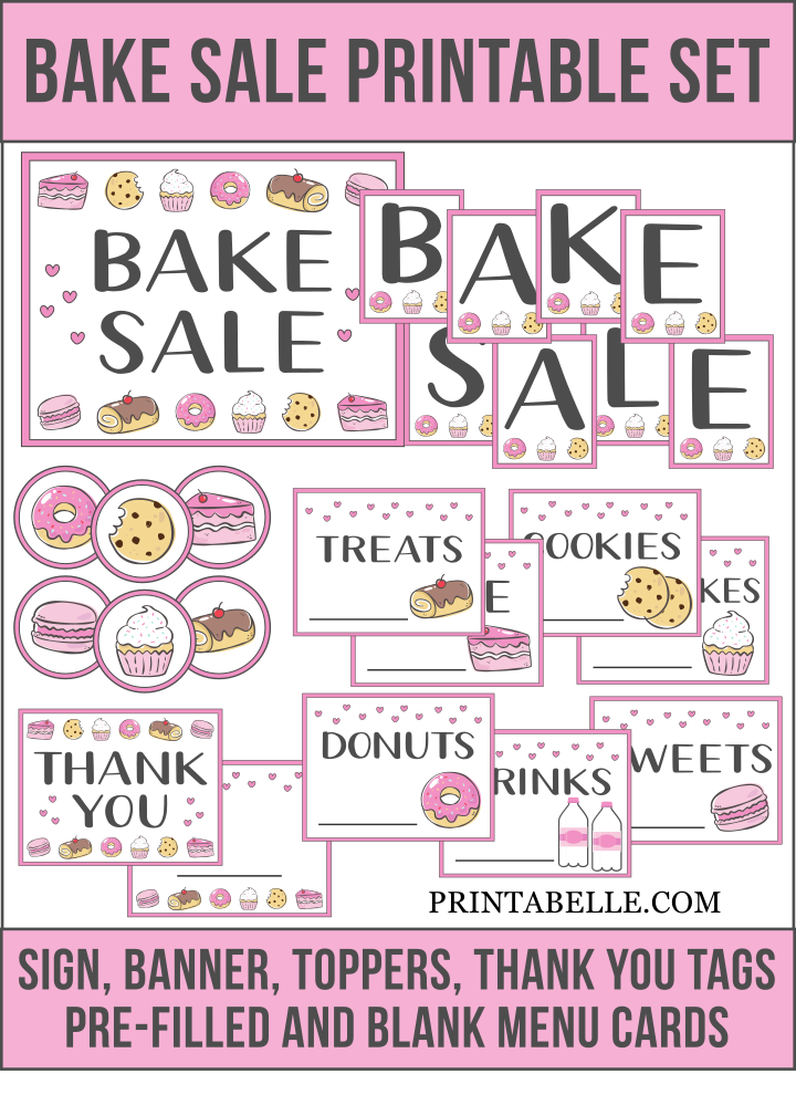 Bake Sale Favorites and Printables!