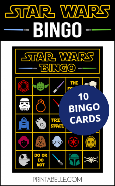 Star Wars Bingo Game Printable