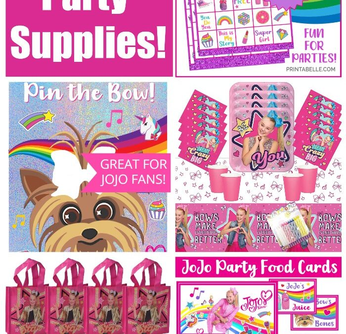 JoJo Siwa Party Supplies for Birthday Parties