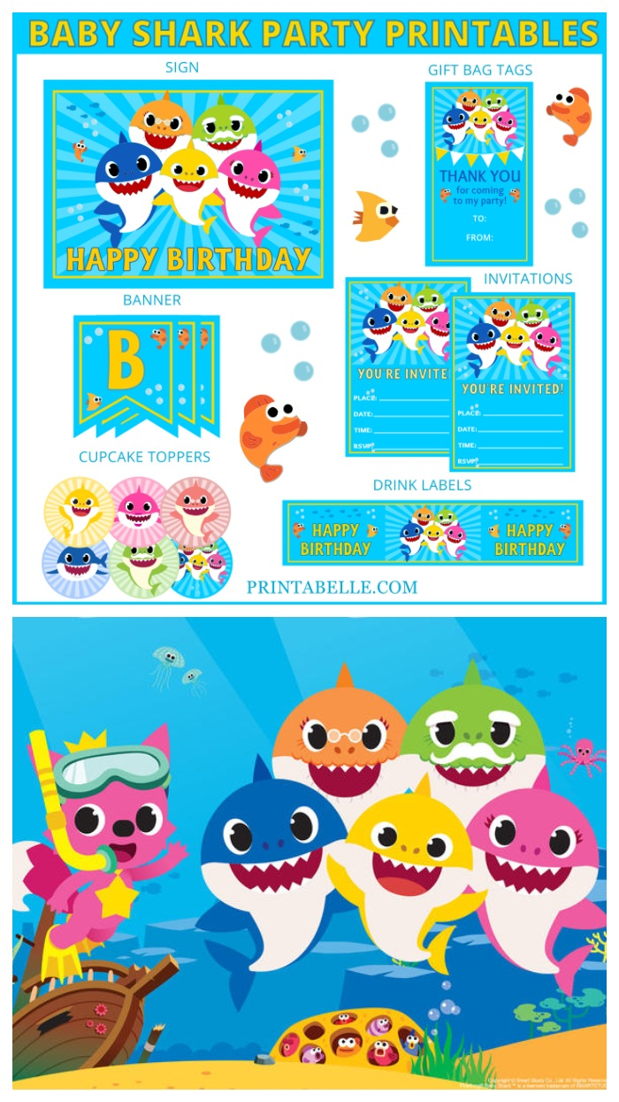 Baby Shark Party Printables Printabelle