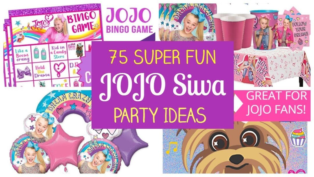 Super Fun JoJo Siwa Party Ideas – Supplies, Printables, Games!