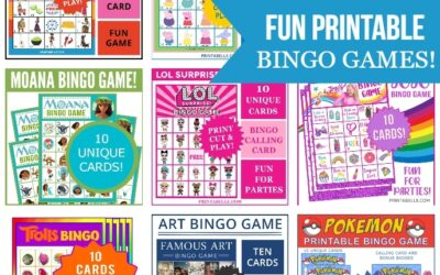 FUN BINGO PRINTABLE GAMES FOR KIDS!