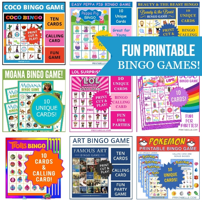 FUN BINGO PRINTABLE GAMES FOR KIDS!
