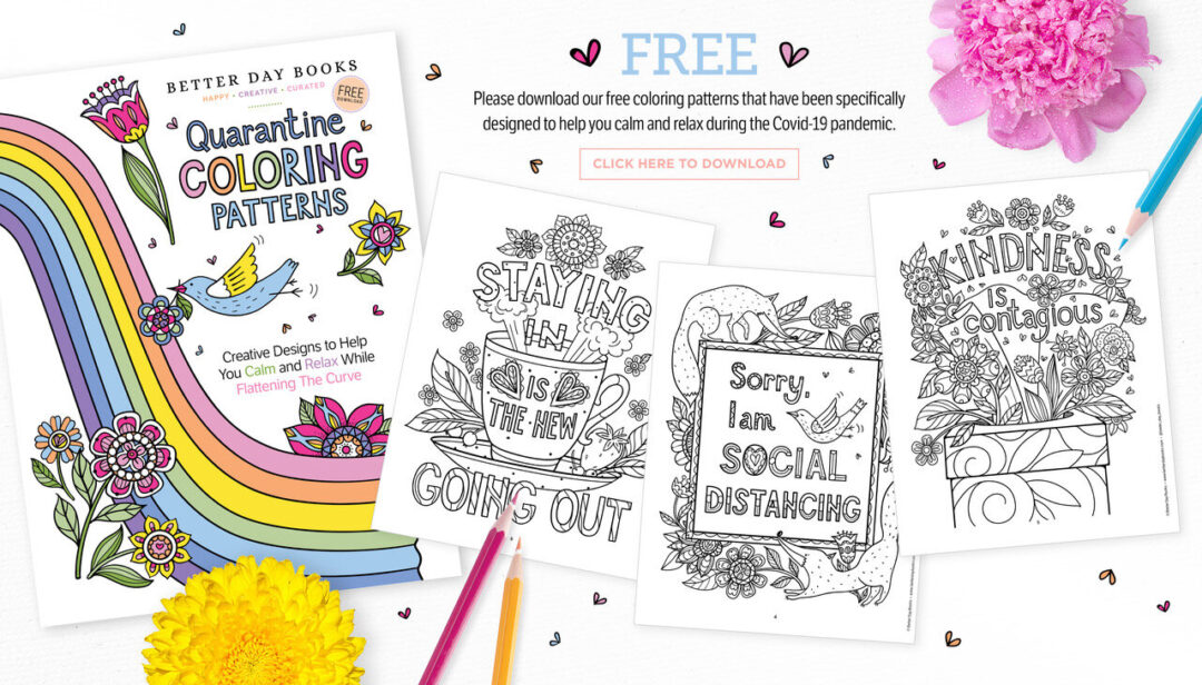 Free Social Distancing Coloring Pages
